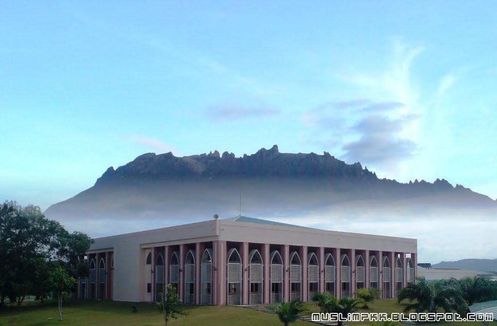 Wallpaper : Pusat Islam PKK + Gunung Kinabalu