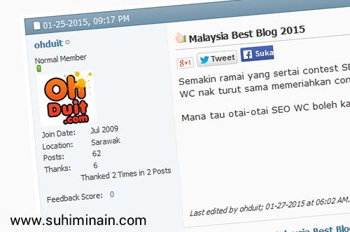 tingkatkan trafik blog forum