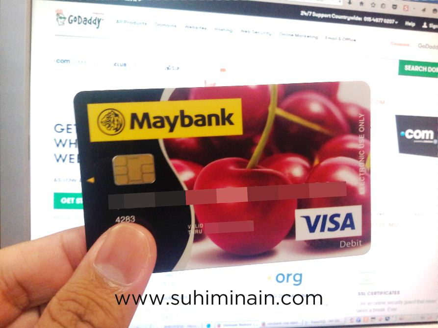 kad debit maybank visa debit blocked