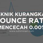 Teknik Kurangkan Bounce Rate Mencecah 0.00%