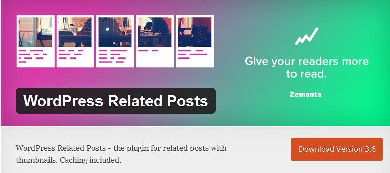 contoh related post plugin percuma dari wordpress.org