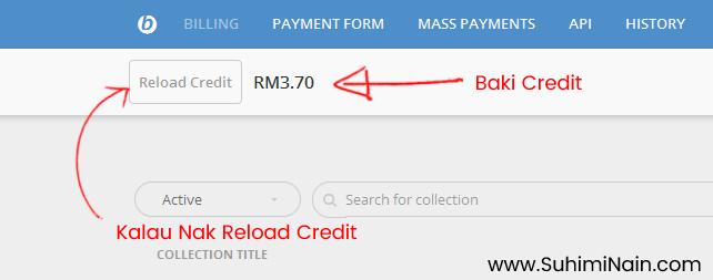 Pastikan credit sentiasa ada.